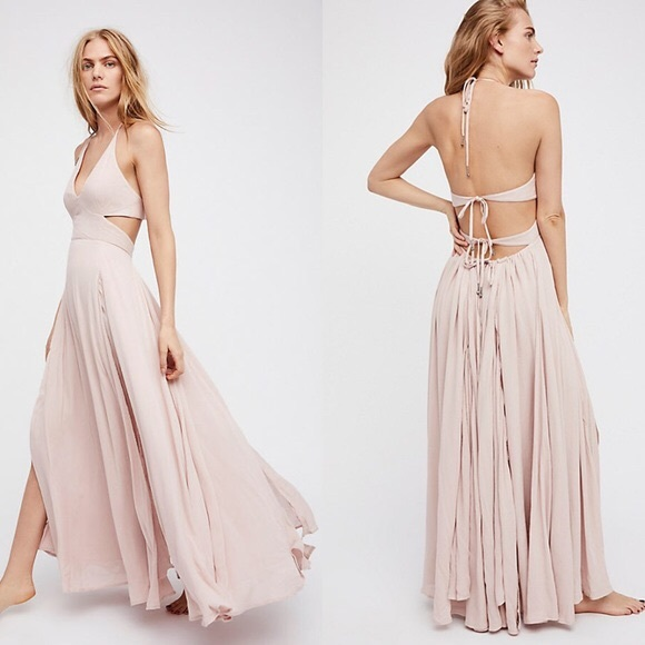 9a993381c1b Free People Dresses   Skirts - Free People Lille Maxi Dress - Dusty Pink  (rare